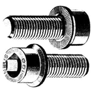 5 Serrated-Flange Socket Head Screw Alloy Steel Thread Size M10-1