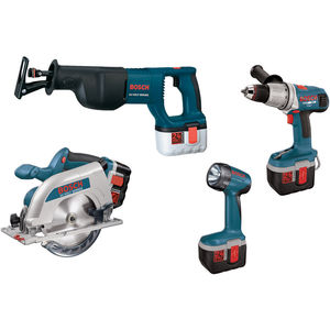 Hammerdrill/Driver / Reciprocating Saw / Circular Saw / Floodlight Combo Kit