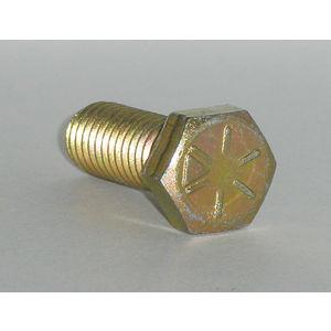 1//2-20 x 2-1//4 PT Qty-25 Hex Cap Screws Grade 8 Yellow Zinc