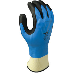 3 Pairs Of SHOWA 377 FullyCoated Nitrile Foam Grip Gloves Size 9//XL