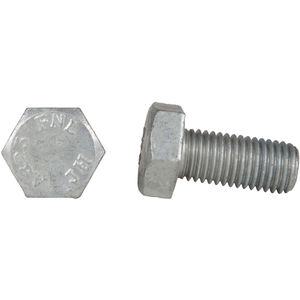 Galvanized Finish 6L A325 Type 1 5//8-11 Steel Structural Bolt with Nut 200 PK