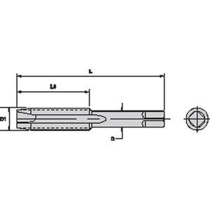 Bright OSG USA 2885300 8-32 2FL 2B High Speed Steel Spiral Point Tap