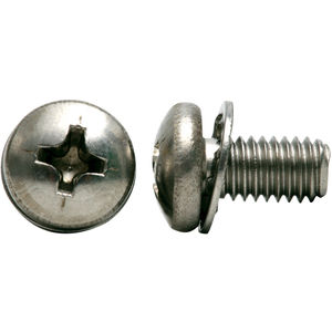 """#2-56 x 3//8/"""" Pan Head Phillips,SEMS,EXT TOOTH,18-8 STAINLESS,Machine Screws 50"""