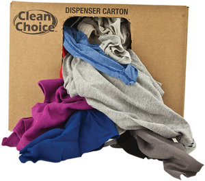 10lb net wt assorted colors recycled clean choice for T shirt rags bulk