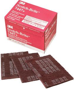 3M Scotch-Brite™ General Purpose Hand Pad 7447 1 case 60 pads Maroon
