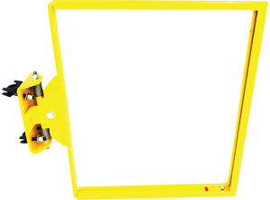 23 48w x 23h safety yellow powder coat steel pivoting floor 23 48w x 23h safety yellow powder coat steel pivoting floor mount lorguard rooftop safety swing gate option fastenal publicscrutiny Gallery
