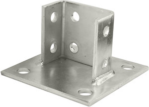 Compliance P2073asq Ss 8 Hole Stainless Steel Square Post Base