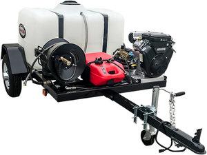 4 gpm 4200 psi 16HP Briggs Vanguard 479cc V-Twin Trailer