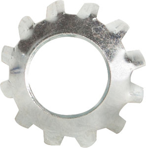 #12 External Tooth Lockwasher Low Carbon Steel Zinc Plated