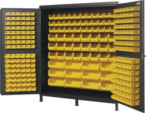 Larger Image Source 72 W X 24 D 84 H Gray 264 Bin High Capacity Flush Door